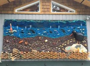 Marine debris mural by Pete Clarkson